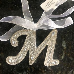"""Other - Silver """"M"""" Ornament or Decorative Accent Piece NWT"""